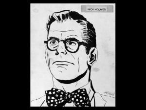 Rip Kirby (Nick Holmes no Brasil), personagem de Alex Raymond e Ward Greene desenhado por Rubens aos 15 anos de idade.